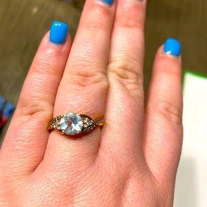 Le Vian blue topaz 14kt ring